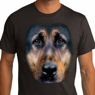 Mens German Shepherd Shirt Big German Shepherd Face Organic T-Shirt