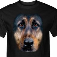 Mens German Shepherd Shirt Big German Shepherd Face Tall Tee T-Shirt