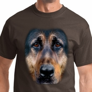 Mens German Shepherd Shirt Big German Shepherd Face Tee T-Shirt