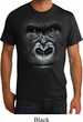 Mens Gorilla Shirt Big Gorilla Face Organic T-Shirt