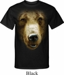 Mens Grizzly Bear Shirt Big Grizzly Bear Face Tall Tee T-Shirt
