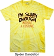 Mens Halloween Shirt Scary Enough Spider Tie Dye Tee T-shirt