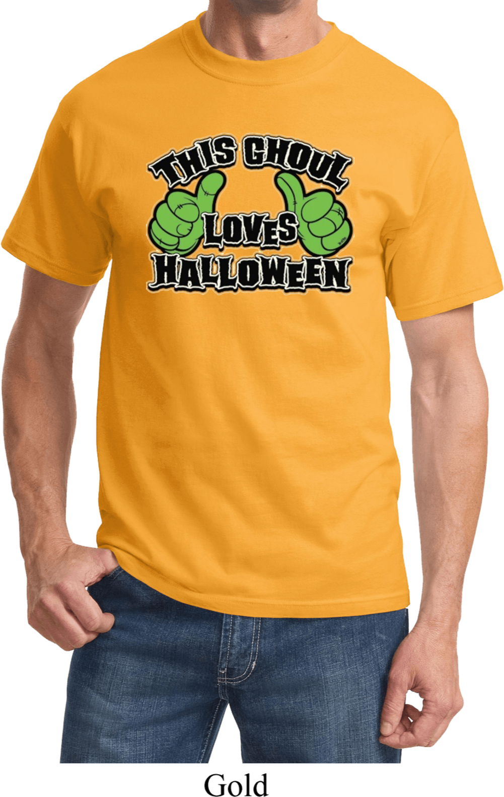 Mens halloween shirt this ghoul loves halloween tee t for Great shirts for guys