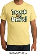 Mens Halloween Shirt Trick Or Beer Organic Tee T-Shirt