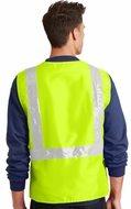 Mens High Visibility Neon Vest with Reflective Tape