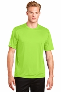 Mens High Visibility Reflective Cycling Tee Shirt - Lime Green
