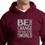 Mens Hoodie Be The Change Hoody