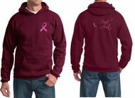 Mens Hoodie Pink Ribbon Pink For My Aunt Front & Back Print Hoody