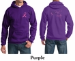 Mens Hoodie Pink Ribbon Pink For My Sister Front & Back Print Hoody