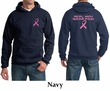 Mens Hoodie Pink Ribbon Real Men Wear Pink Front & Back Print Hoody