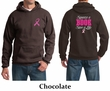 Mens Hoodie Pink Ribbon Save a Life Front & Back Print Hoody