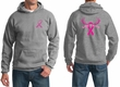 Mens Hoodie Pink Ribbon Save a Rack Front & Back Print Hoody