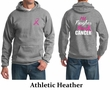 Mens Hoodie Pink Ribbon Tougher than Cancer Front & Back Print Hoody