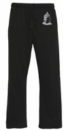 Mens Lightweight Yoga Pants - Buddha Profile - Black