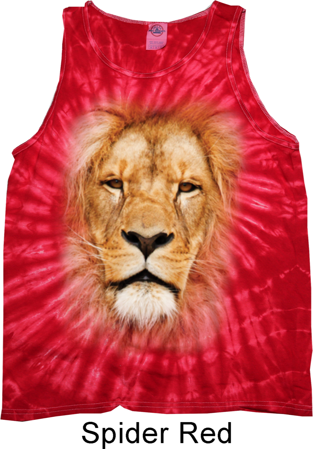 Mens Lion Tanktop Big Lion Face Tie Dye Tank Top Big