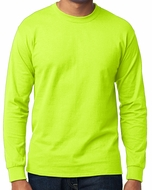 Mens Long Sleeve High Visibilty Cycling Tee Shirt