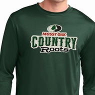 Mens Mossy Oak Country Roots Dry Wicking Long Sleeve