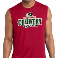 Mens Mossy Oak Country Roots Sleeveless Dry Wicking Shirt