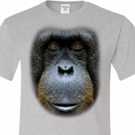 Mens Orangutan Shirt Big Orangutan Face Tall Tee T-Shirt
