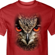 Mens Owl Shirt Big Owl Face Tall Tee T-Shirt