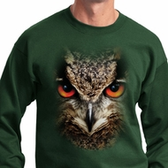 Mens Owl Sweatshirt Big Owl Face Sweat Shirt
