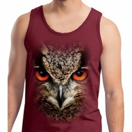 Mens Owl Tanktop Big Owl Face Tank Top
