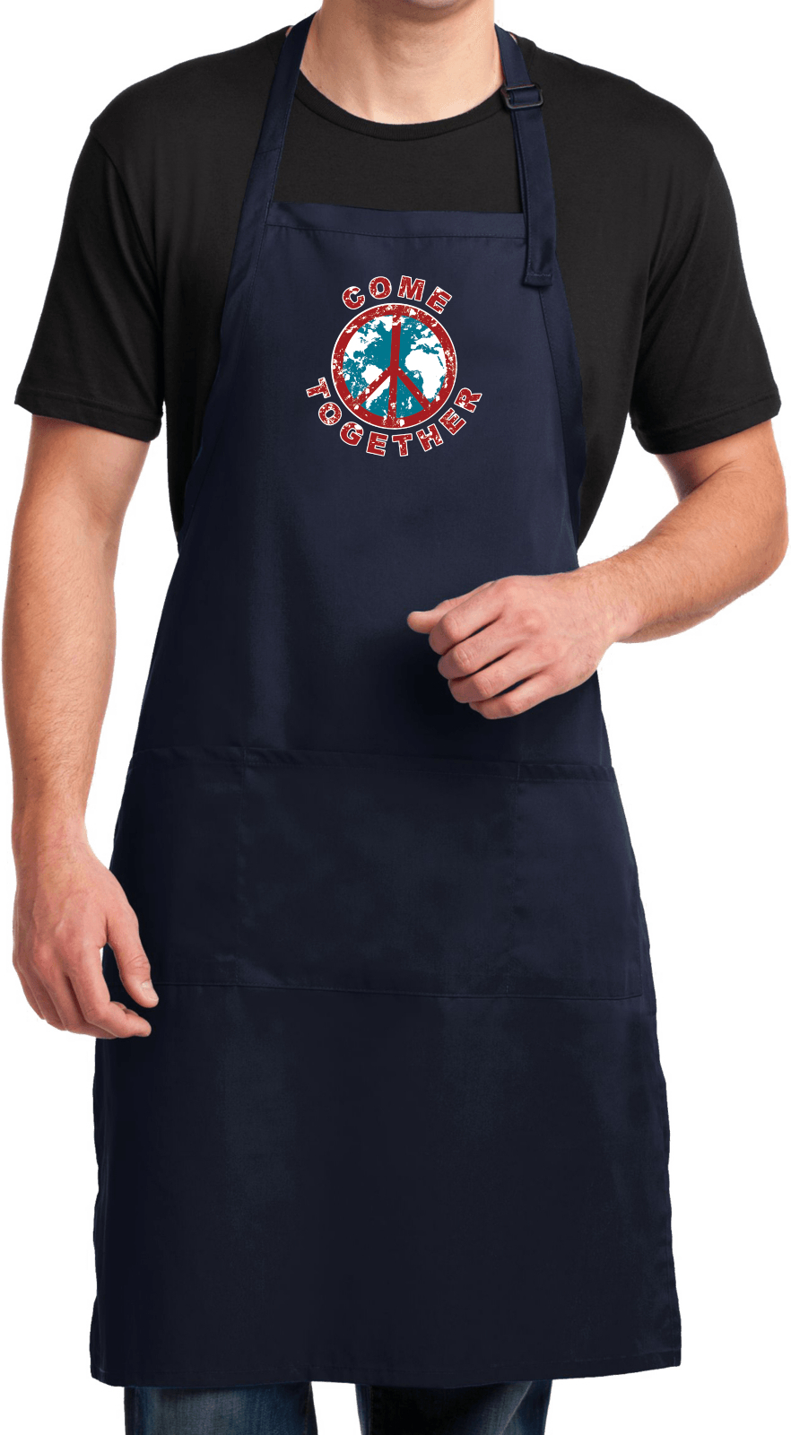 Mens Peace Apron Come Together Full Length Apron With