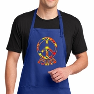 Mens Peace Apron Funky Peace Full Length Apron with Pockets