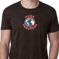 Mens Peace Shirt Come Together Burnout Tee T-Shirt