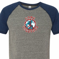 Mens Peace Shirt Come Together Tri Blend Tee T-Shirt