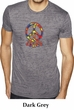 Mens Peace Shirt Funky Peace Burnout Tee T-Shirt