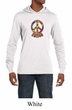 Mens Peace Shirt Funky Peace Lightweight Hoodie Tee T-Shirt