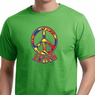 Mens Peace Shirt Funky Peace Organic Tee T-Shirt