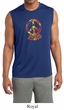 Mens Peace Shirt Funky Peace Sleeveless Moisture Wicking Tee T-Shirt