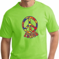 Mens Peace Shirt Funky Peace Tall Tee T-Shirt