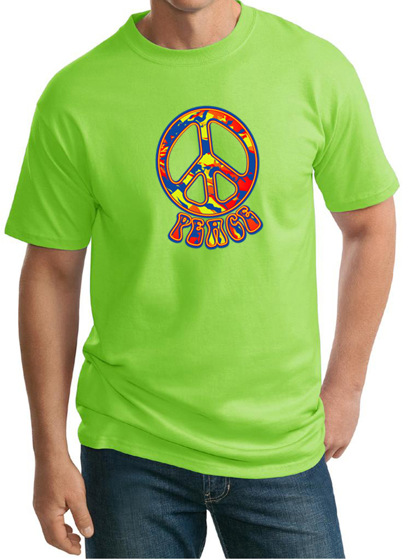 Mens peace shirt funky peace tall tee t shirt funky for Mens tall t shirts