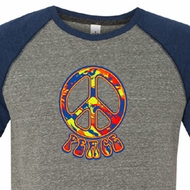 Mens Peace Shirt Funky Peace Tri Blend Tee T-Shirt
