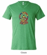 Mens Peace Shirt Funky Peace Tri Blend V-neck Tee T-Shirt