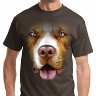 Mens Pit Bull Shirt Big Pit Bull Face Tee T-Shirt