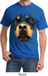 Mens Rottweiler Shirt Big Rottweiler Face Tee T-Shirt