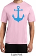 Mens Sailing Shirt Blue Anchor Moisture Wicking Tee