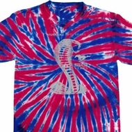 Mens Shirt 50 Years Cobra Union Jack Patriotic Tie Dye Tee T-shirt