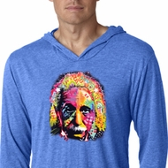 Mens Shirt Albert Einstein Lightweight Hoodie Tee T-Shirt