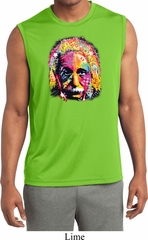 Mens Shirt Albert Einstein Sleeveless Moisture Wicking Tee