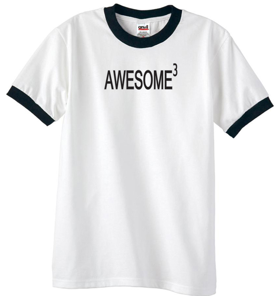 mens shirt awesome cubed ringer tee tshirt awesome