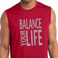 Mens Shirt Balance Your Life Sleeveless Moisture Wicking Tee T-Shirt