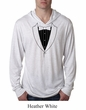 Mens Shirt Basic Black Tuxedo Lightweight Hoodie Tee