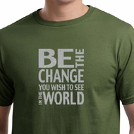 Mens Shirt Be The Change Organic Tee T-Shirt
