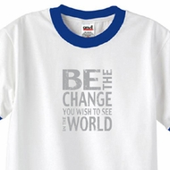 Mens Shirt Be The Change Ringer Tee T-Shirt