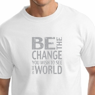 Mens Shirt Be The Change Tall Tee T-Shirt